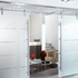 Manual sliding door system
