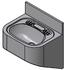 HDWHB heavy duty security type wash hand basin