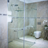In-line shower enclosure