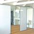 Frameless door sliding system