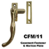 Casement fastener and mortice plate