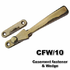 Casement fastener and wedge