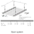 Open ceiling system