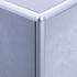 Matt Silver Quadrant Edge Corner Piece