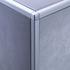 Matt Silver Square Edge Radius Corner Piece