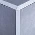 Bright Silver Triangle Edge Corner Piece