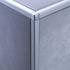 Matt Silver Square Edge Corner Piece