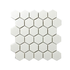 Porcelain Mosaic 51x51mm - Matt White Hexagon