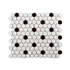 Porcelain Mosaic 23x23mm - Mini Hex Gloss White & Black