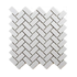 Porcelain Mosaic 23x48mm - Gloss White Herringbone