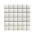 Porcelain Mosaic 45x45mm - Gloss White Domed