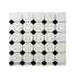 Porcelain Mosaic 56x56mm - Octagon Matt White
