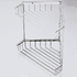 Stainless steel double corner shower caddy