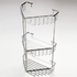 Stainless steel chrome plated triple shower corner caddy