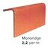 Butt-jointed mono ridge tiles