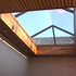 Glass roof with pyramid profile