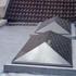 Ridge pyramid over patio