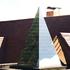 60° pyramid with sandblasted markings