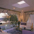 Reflective glass over lounge