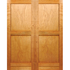 Framed, ledged & battened ply back double door