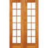 Small pane double door