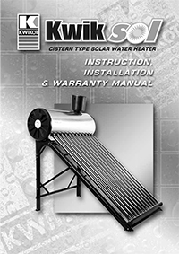 solar water heater installation manual